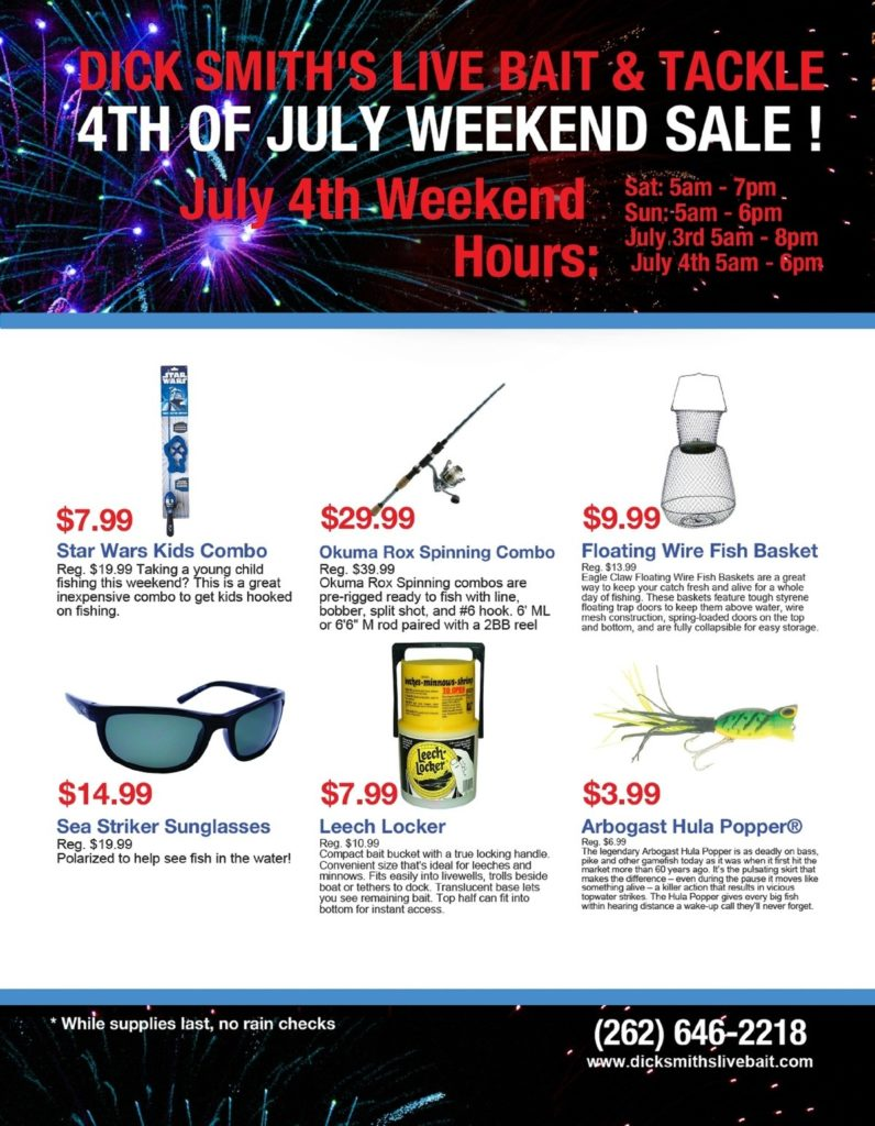 Fireworks Flyer for Website - Dick Smith's Live Bait & Tackle