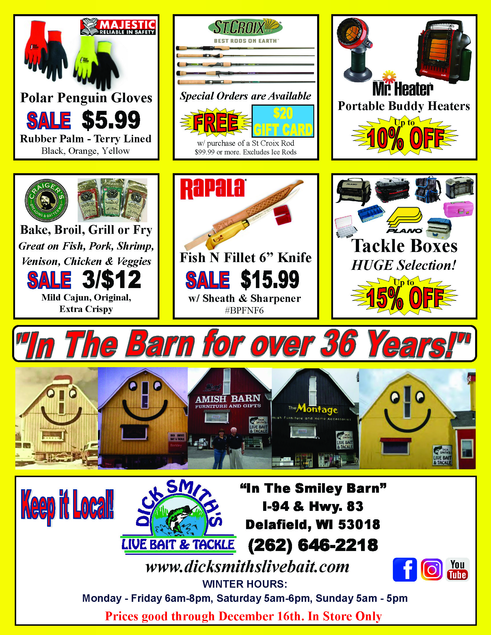 bf708f758cf Anniversary Flyer 36 new Page 1 - Dick Smith s Live Bait   Tackle